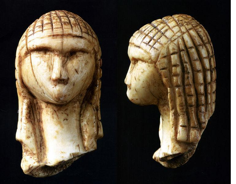 Venus of Brassempouy, France. 21000 yrs old, with African braids