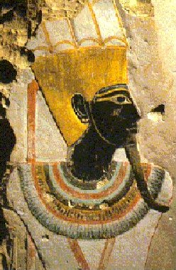 Ama/Imana/Amin/Amen/Nyamien/Nyambe/Nzambe/Nzambi etc..., Unique God of Africa, imagined here under his masculine form; Temple of the female pharaoh Hatshepsut