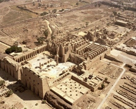 The temple of Karnak, the biggest religious edifice in the history, built by the Africans, dedicated to Imana/Amen (God)