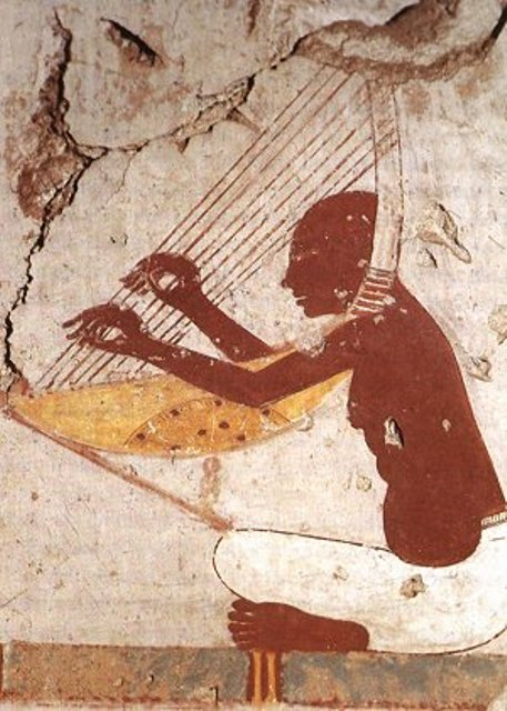 A musician during the pharaonic era