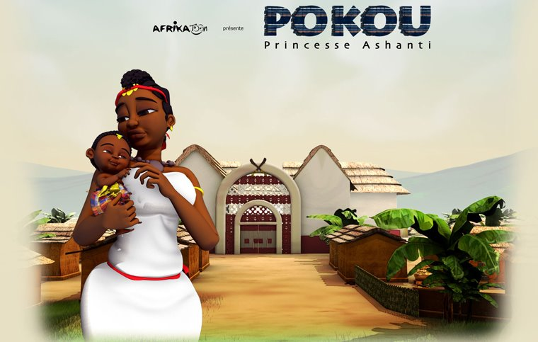 Heir princess Poku of the Asante empire and her son Kwaku