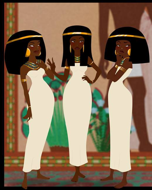 Ancient Egyptian women; Illustration by Sandro Perovic