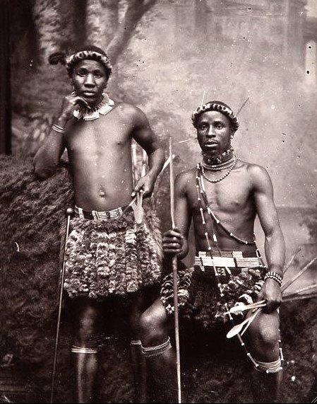 Zulu Warriors in 1910