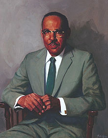Portrait of Vivien Thomas displayed at John Hopkins