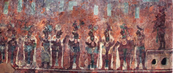 Mayan dignitaries as it can be seen