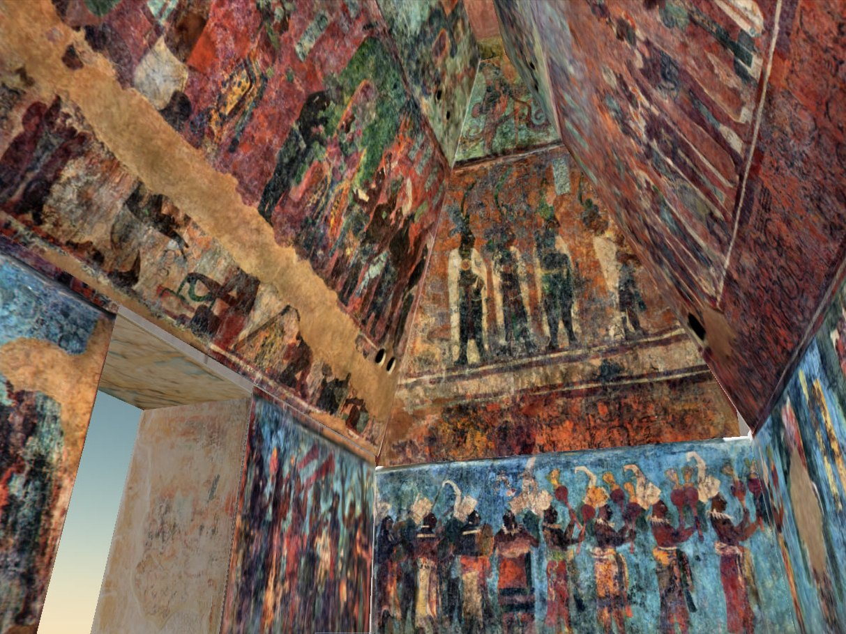 The famous maya people were partly black for Bonampak mural painting