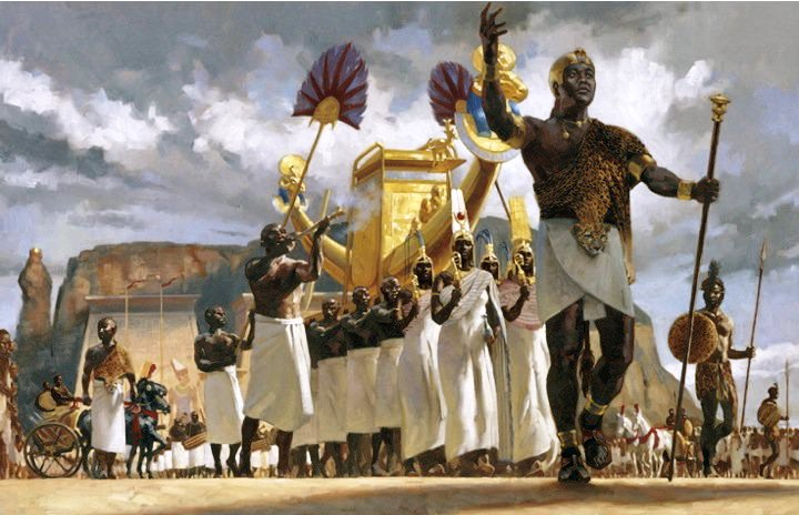 Taharqa, the legendary sudanese pharaoh of Egypt Illustration by National Geographic