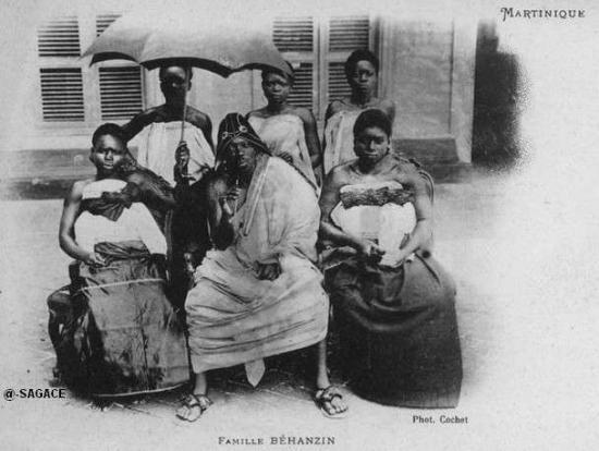 Behanzin in Martinique with his wives