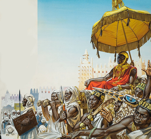 Mansa Kankan Musa, Illustration by Angus McBride