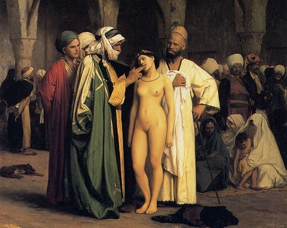 Millions of white Europeans had been enslaved by the Arabs and other Muslims Image: the slave market by Jean Léon Jerome