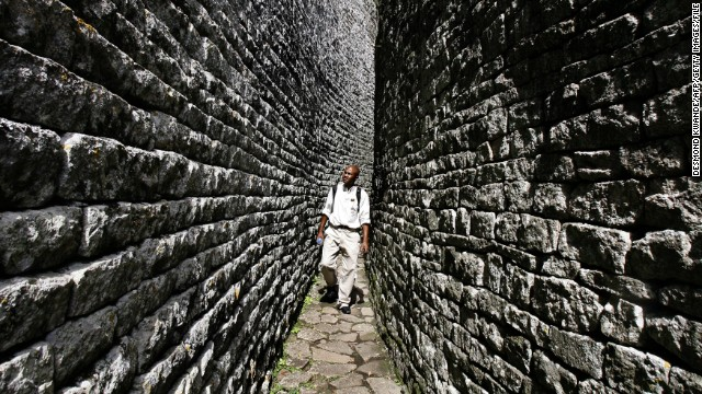 Great Zimbabwe. The large enclosure is a religious temple built on astronomical basis in accordance with the African tradition.