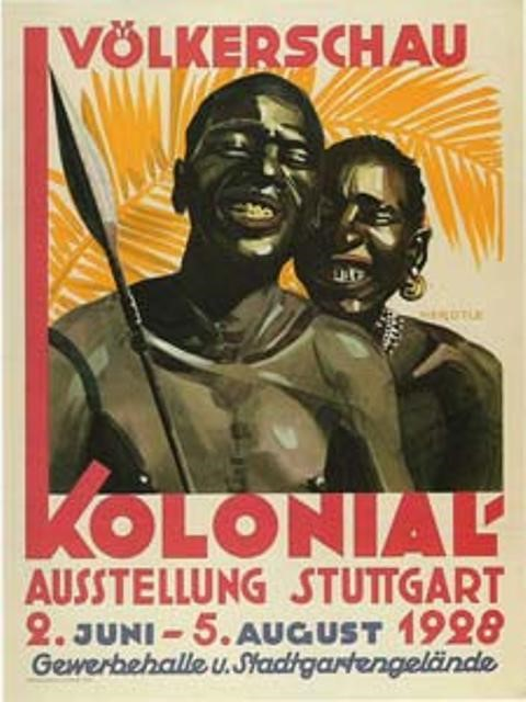 Advertising poster for a human zoo in Germany