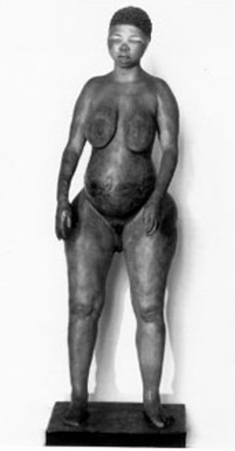 Moulding of the Hottentot Venus' corpse kept in the West.