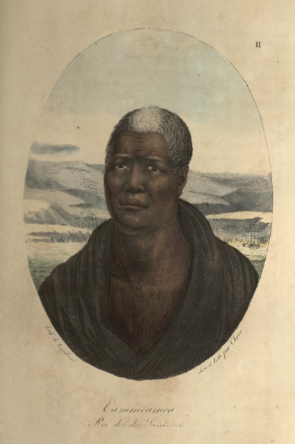 Kamehameha Peint par le dessinateur et explorateur germano-ruisse Louis Choris