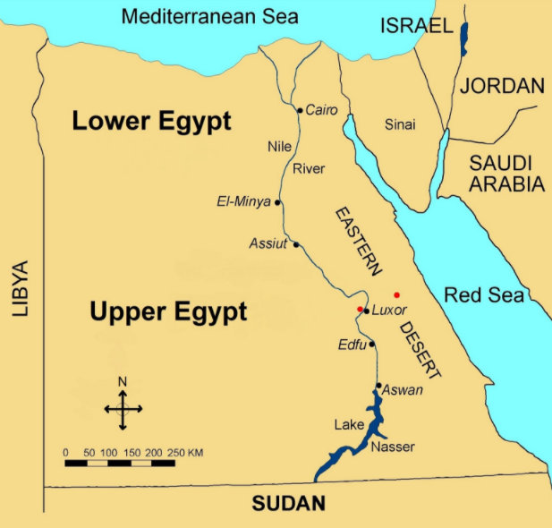 Conventional Upper and Lower Egypt or the wandering and the mistakes (deliberate or not) of western egyptology