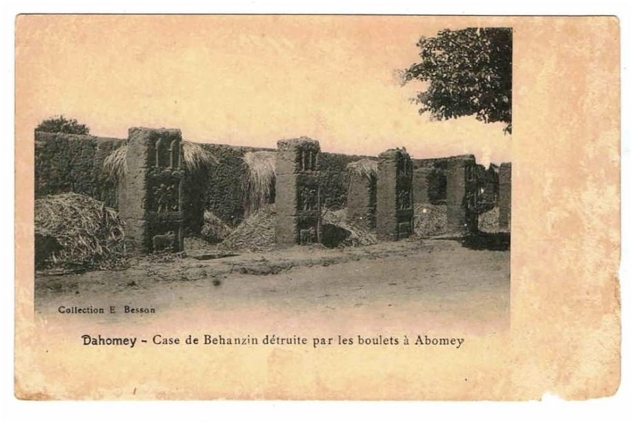 Behanzin's house destroyed by the canons