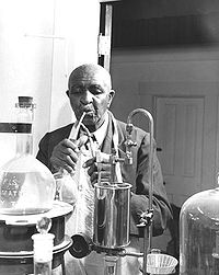 Dr Carver in his laboratory