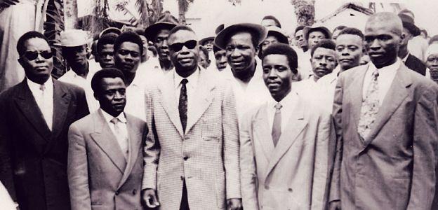 5 des principaux leaders indépendantistes kamerunais De gauche à droite au premier plan : Osende Afana, Abel Kingué, Um Nyobè, Felix Moumié, Ernest Ouandié Mis à part Kingué, tous seront tués
